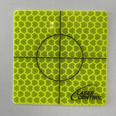 Zelfklevende targets 60×60mm geel (20 stuks)
