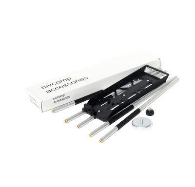 H-set voor Nivcomp, bestaande uit apparaathouder, 4 verlengingsstaven, magnetische klem en beschermingsknop